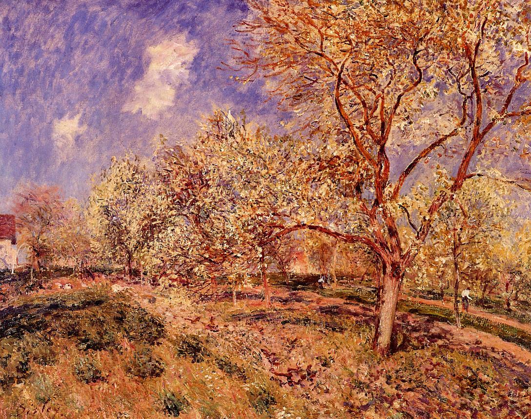 Spring at Veneux  1880 | Alfred Sisley | Oil Painting