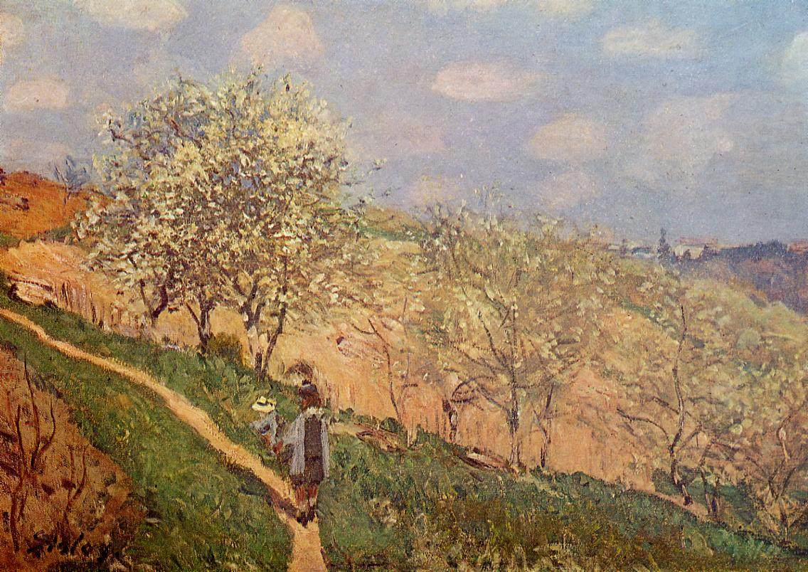 Spring in Bougival  1873   Alfred Sisley   Oil Painting