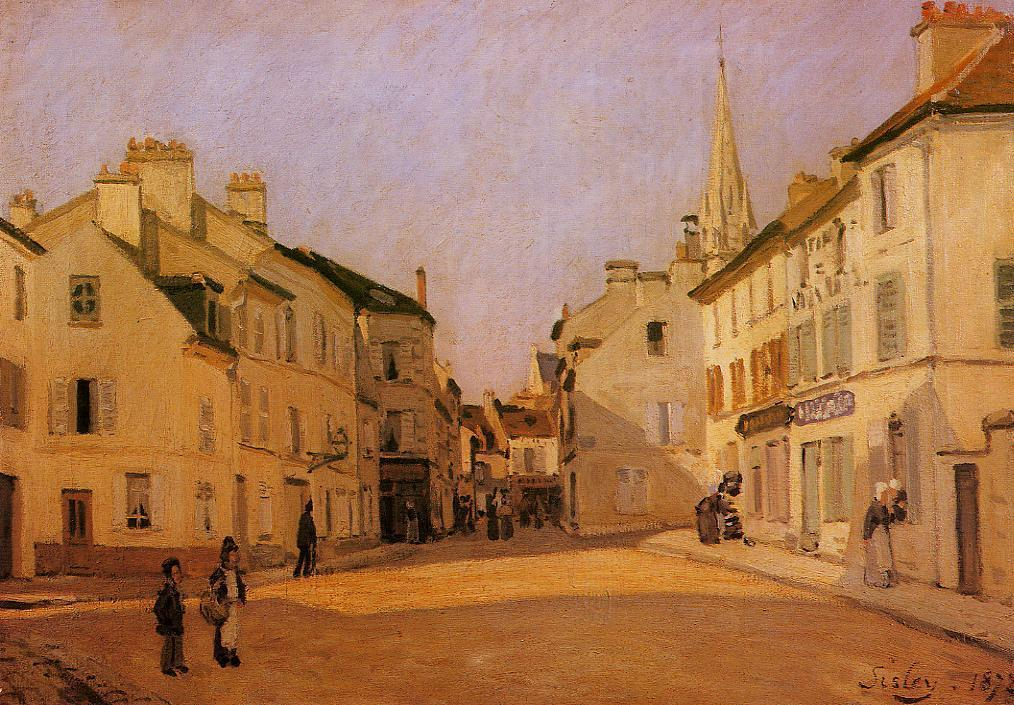 Square in Argenteuil (aka Rue de la Chaussee)  1872   Alfred Sisley   Oil Painting