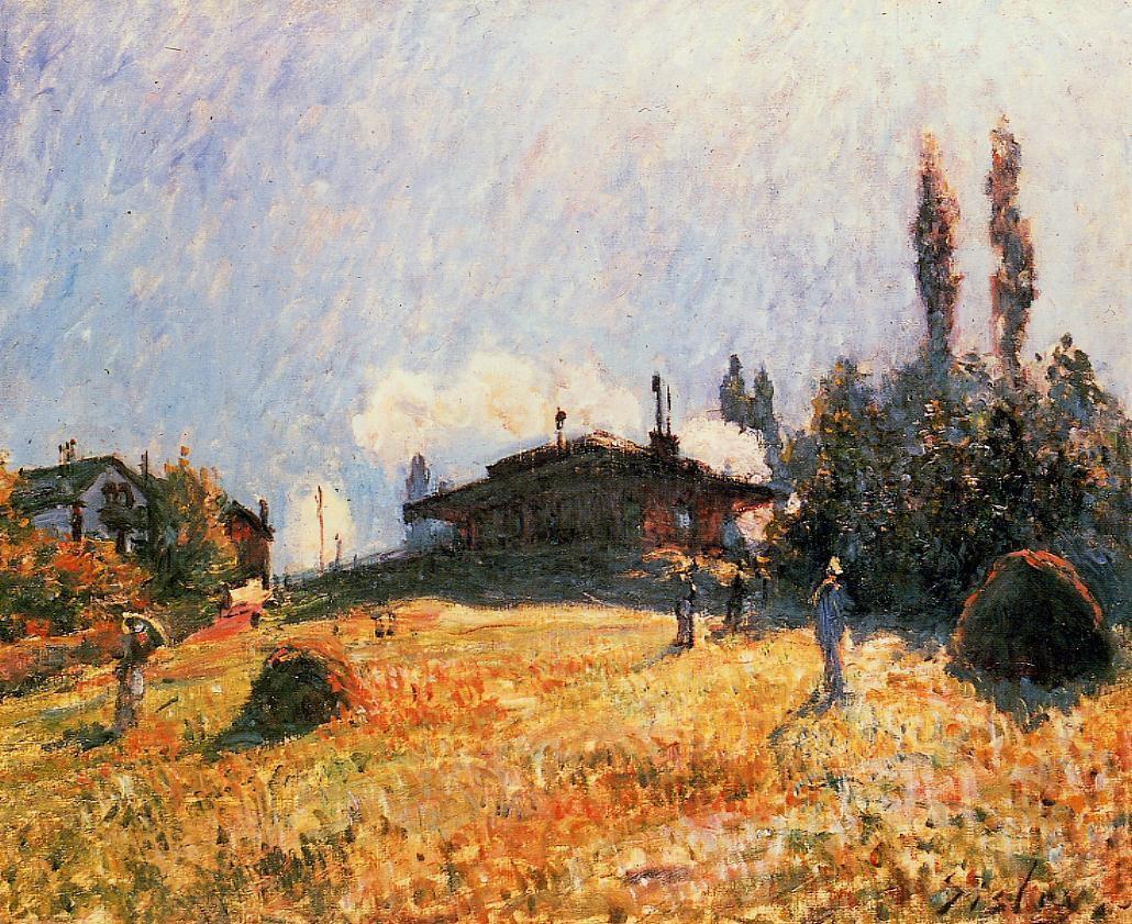 Station at Sevres  1879   Alfred Sisley   Oil Painting