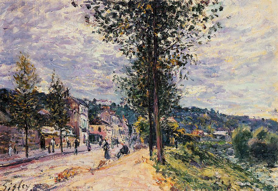 Street Entering the Village  1880   Alfred Sisley   Oil Painting