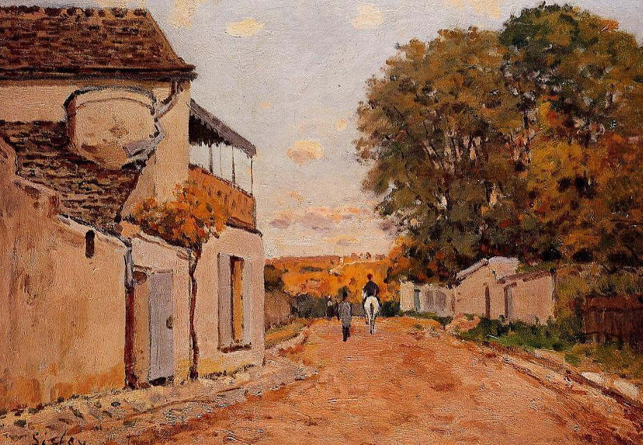 Street in Louveciennes  1874   Alfred Sisley   Oil Painting