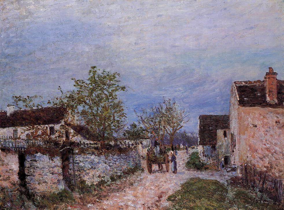 Street in Veneux  1883   Alfred Sisley   Oil Painting