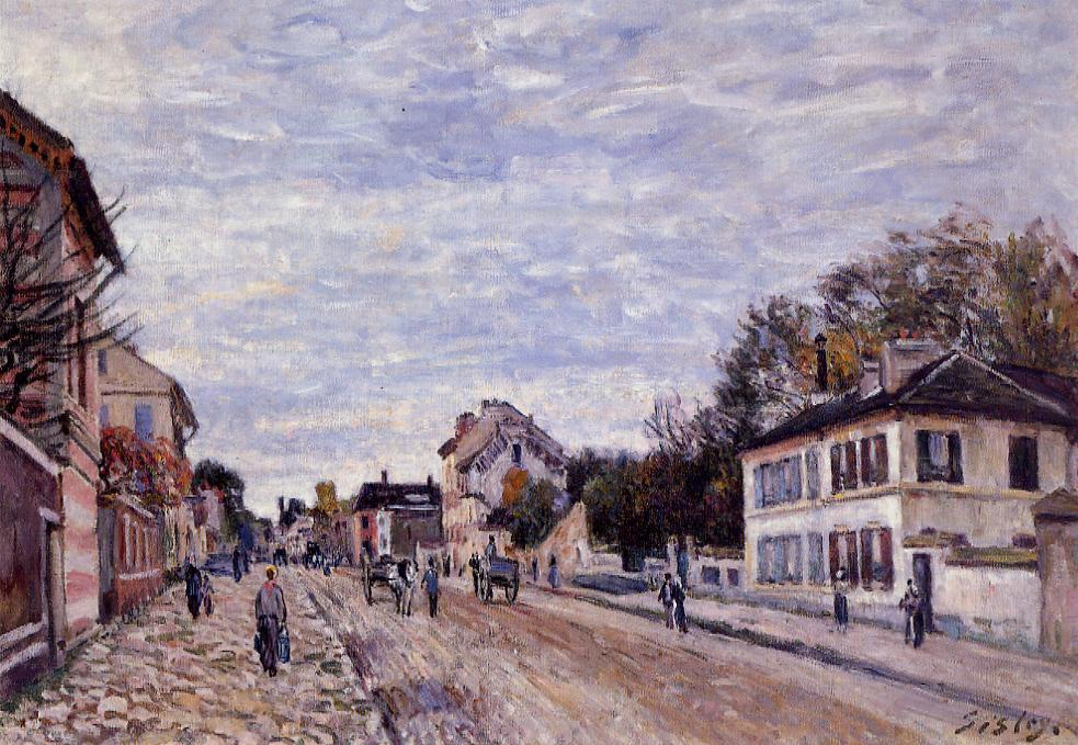 Street Scene in Marly  1876 | Alfred Sisley | Oil Painting