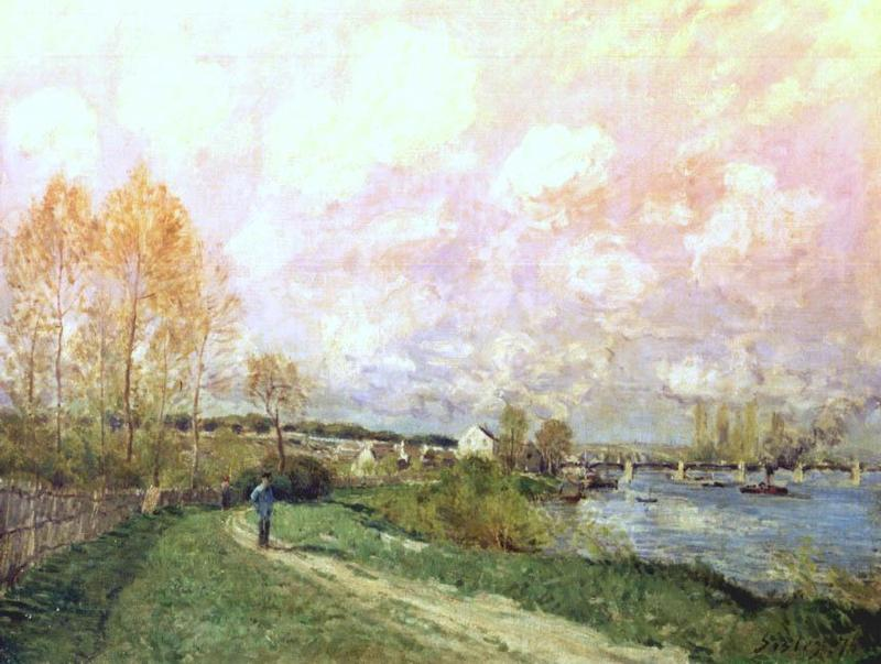 Summer at Bougival  1874   Alfred Sisley   Oil Painting