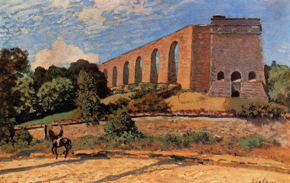 The Aqueduct at Marly  1874   Alfred Sisley   Oil Painting