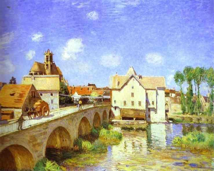 The Bridge at Moret  1893 | Alfred Sisley | Oil Painting