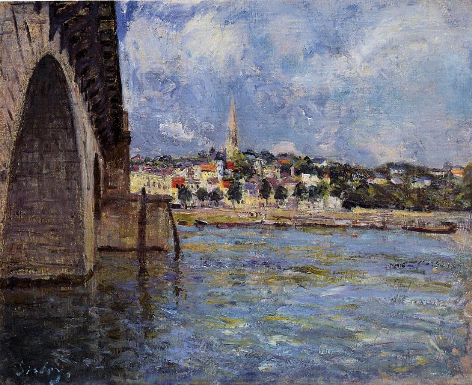 The Bridge at Saint-Cloud  1877 | Alfred Sisley | Oil Painting