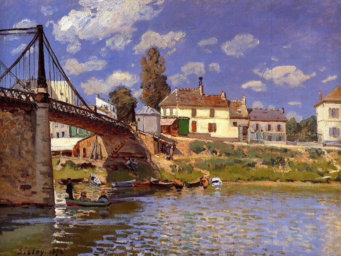 The Bridge at Villeneuve-la-Garenne  1872 | Alfred Sisley | Oil Painting