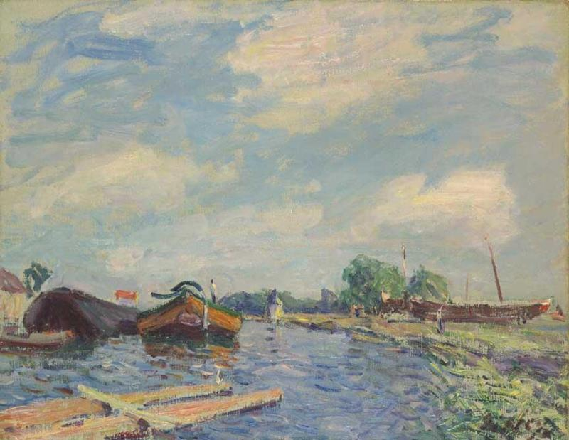 The Canal at Saint-Mammes  1886 | Alfred Sisley | Oil Painting