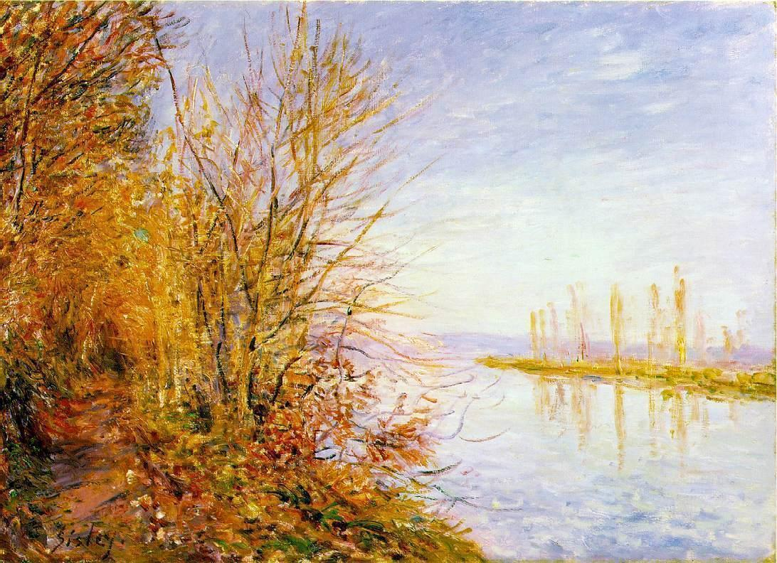 The Chemin de By through Woods at Rouches-Courtaut St. Martin's Summer  1880 | Alfred Sisley | Oil Painting