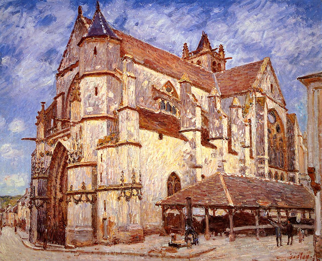 The Church at Moret Afternoon  1894 | Alfred Sisley | Oil Painting