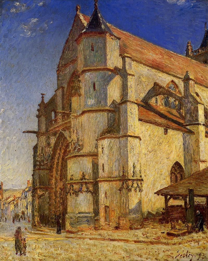 The Church at Moret in the Morning Sun  1893 | Alfred Sisley | Oil Painting