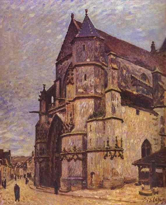 The Church at Moret Winter  1893-1894 | Alfred Sisley | Oil Painting