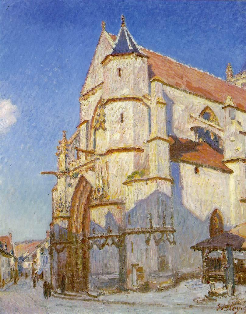 The Church at Moret  1894 | Alfred Sisley | Oil Painting