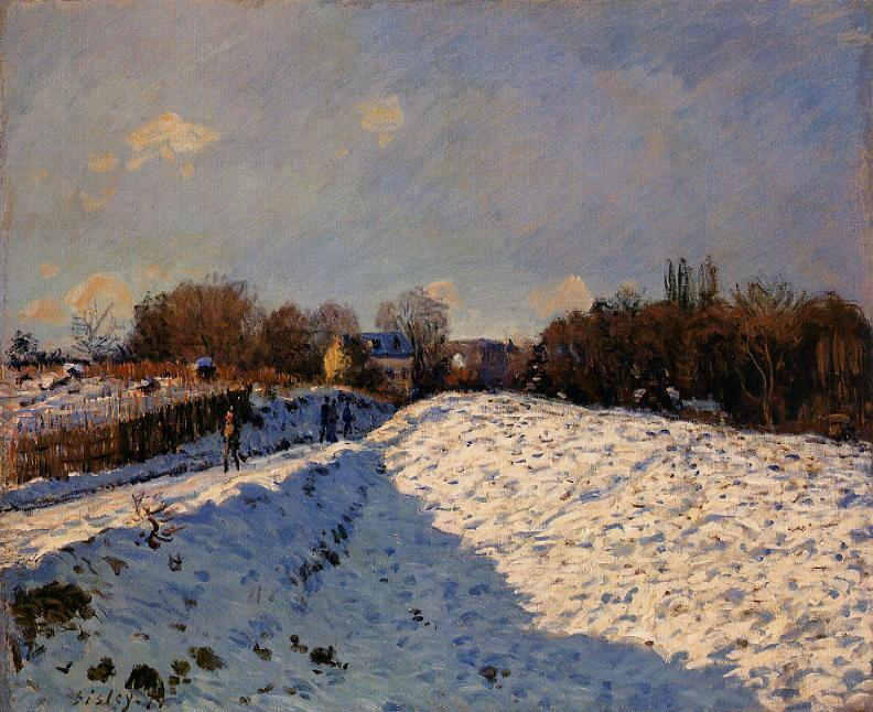 The Effect of Snow at Argenteuil  1874 | Alfred Sisley | Oil Painting