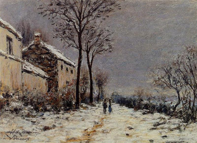 The Effect of Snow at Veneux  1884 | Alfred Sisley | Oil Painting