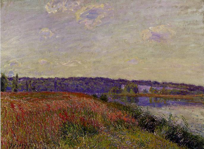 The Fields and Hills of Veneux-Nadon  1881 | Alfred Sisley | Oil Painting