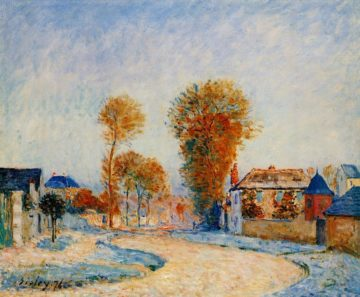 The First Hoarfrost  1876 | Alfred Sisley | Oil Painting