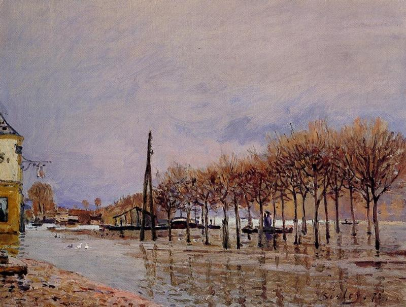The Flood at Port-Marly  1872 1 | Alfred Sisley | Oil Painting
