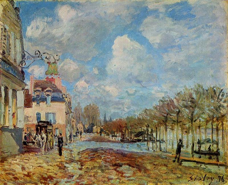 The Flood at Port-Marly  1872 2 | Alfred Sisley | Oil Painting