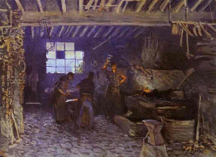 The Forge at Marly-le-Roi (aka Yvelines)  1875 | Alfred Sisley | Oil Painting