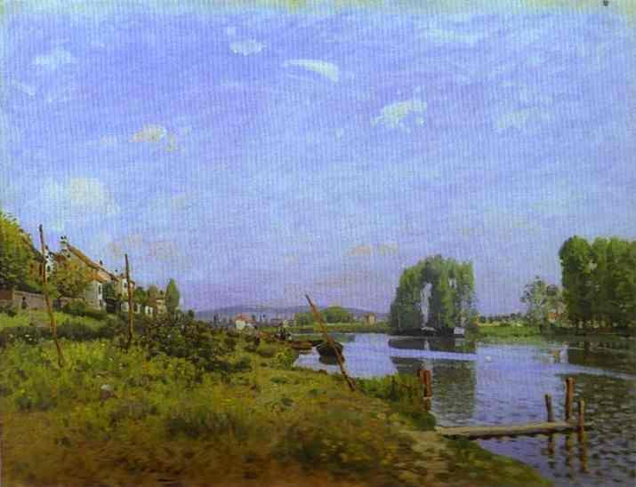 The Island of Saint-Denis  1872 | Alfred Sisley | Oil Painting