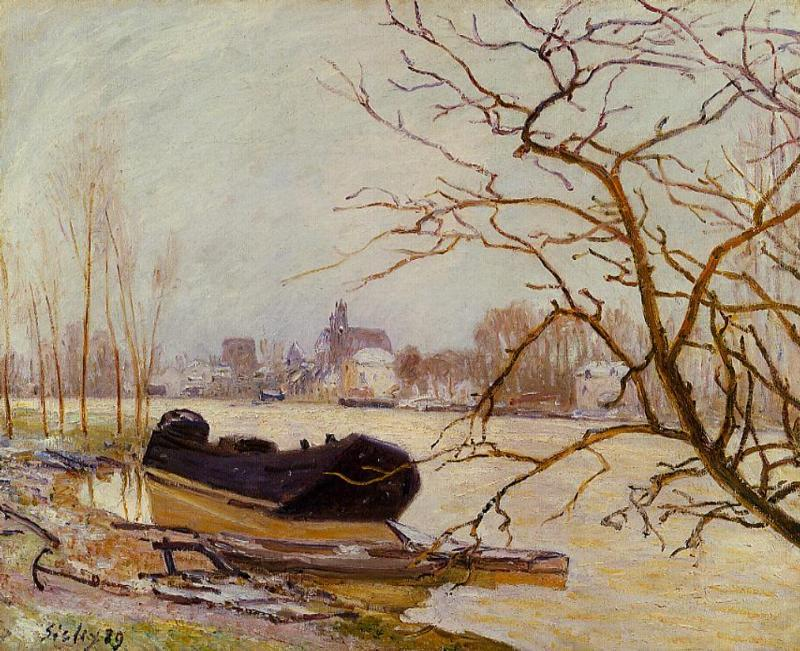 The Loing at High Water  1889 | Alfred Sisley | Oil Painting