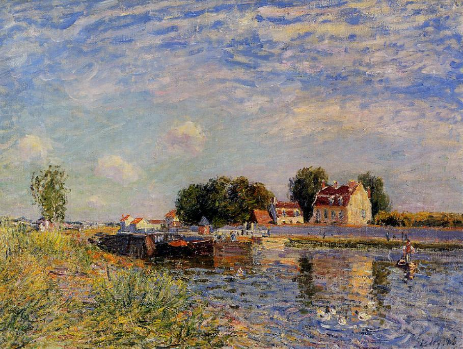 The Loing at Saint-Mammes  1881 | Alfred Sisley | Oil Painting