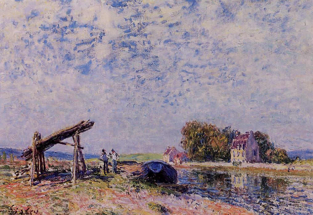 The Loing at Saint-Mammes  1884 1 | Alfred Sisley | Oil Painting