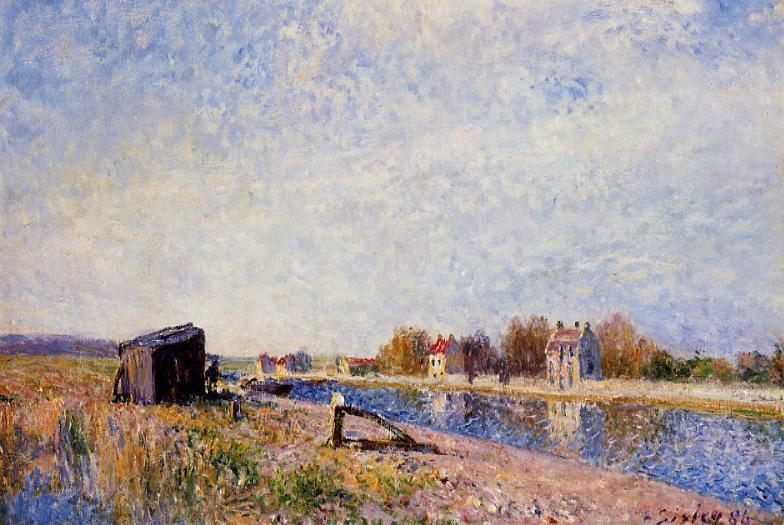 The Loing at Saint-Mammes  1884 2 | Alfred Sisley | Oil Painting