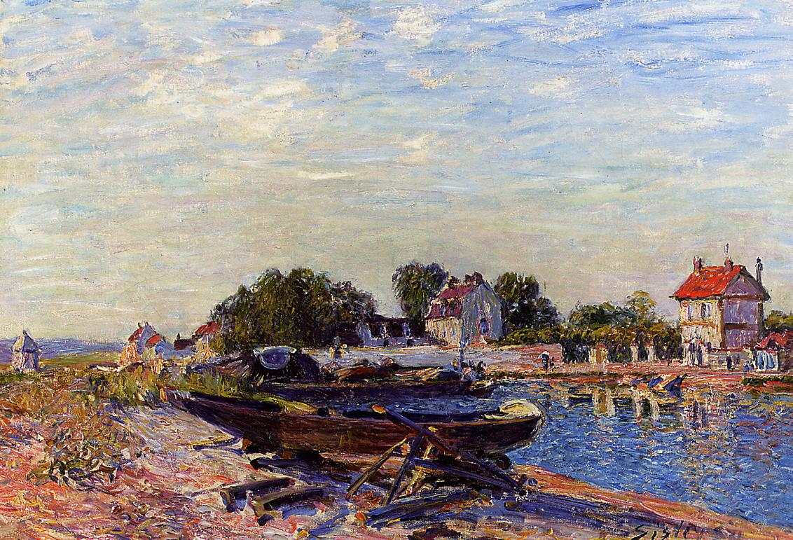 The Loing at Saint-Mammes  1884 3 | Alfred Sisley | Oil Painting
