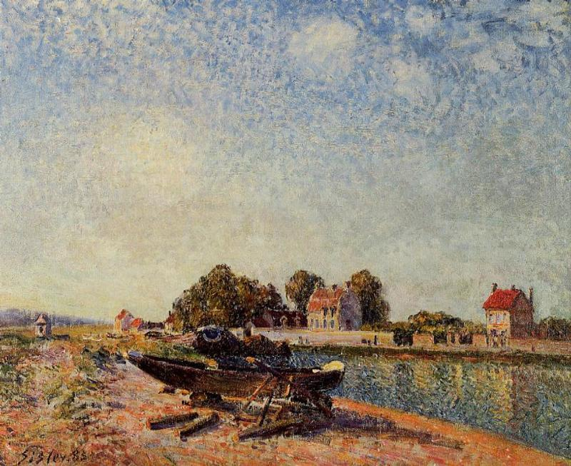 The Loing at Saint-Mammes  1885 | Alfred Sisley | Oil Painting