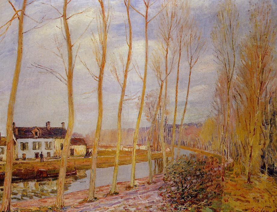 The Loing Canal at Moret  1892 | Alfred Sisley | Oil Painting