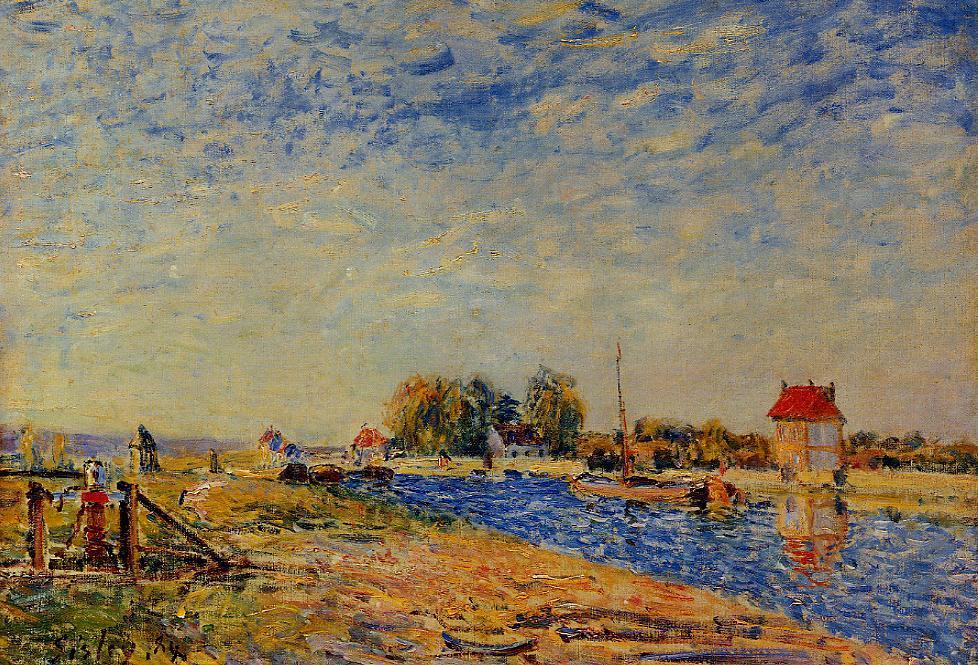 The Loing Canal  1884 1 | Alfred Sisley | Oil Painting