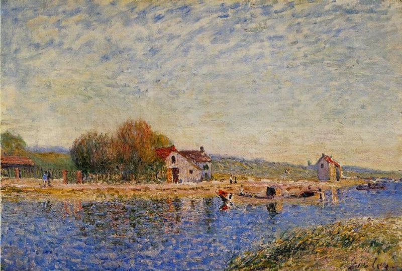 The Loing Canal  1884 2 | Alfred Sisley | Oil Painting