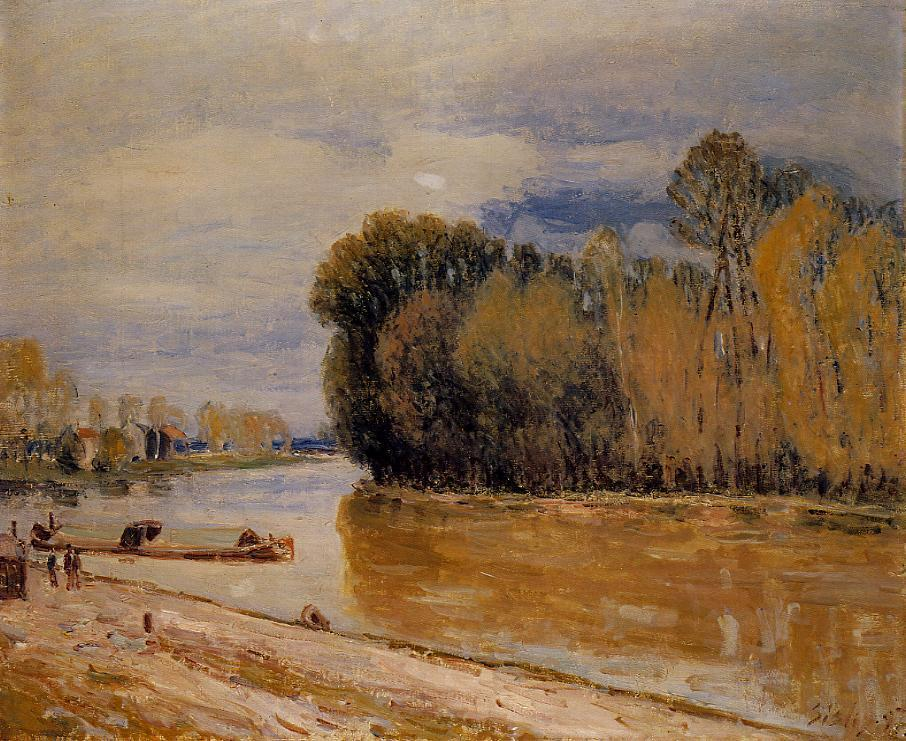 The Loing Canal  1897 | Alfred Sisley | Oil Painting