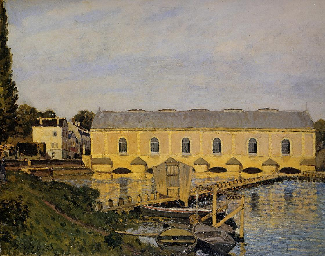 The Machine at Marly  1873 | Alfred Sisley | Oil Painting
