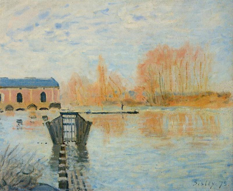 The Marly Machine and the Dam  1875 | Alfred Sisley | Oil Painting