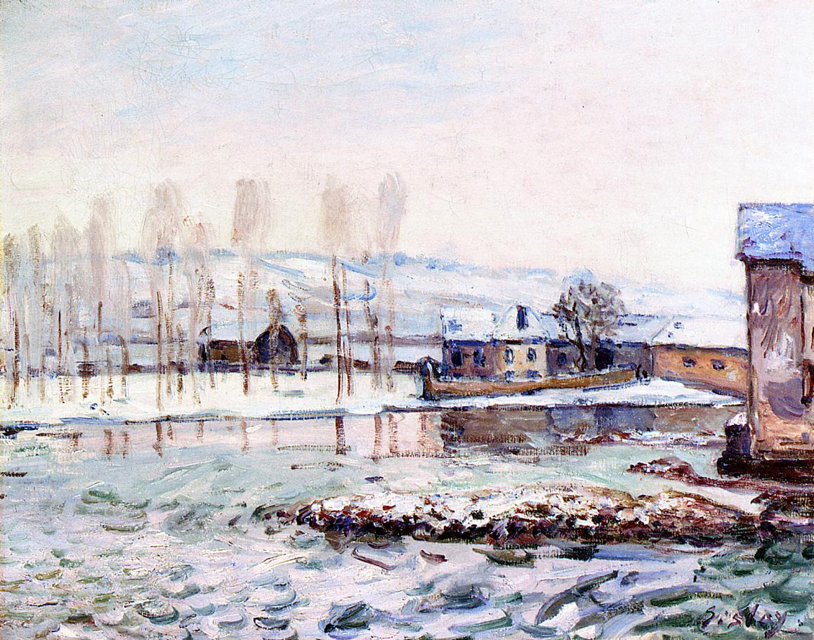 The Mills at Moret  1890 | Alfred Sisley | Oil Painting