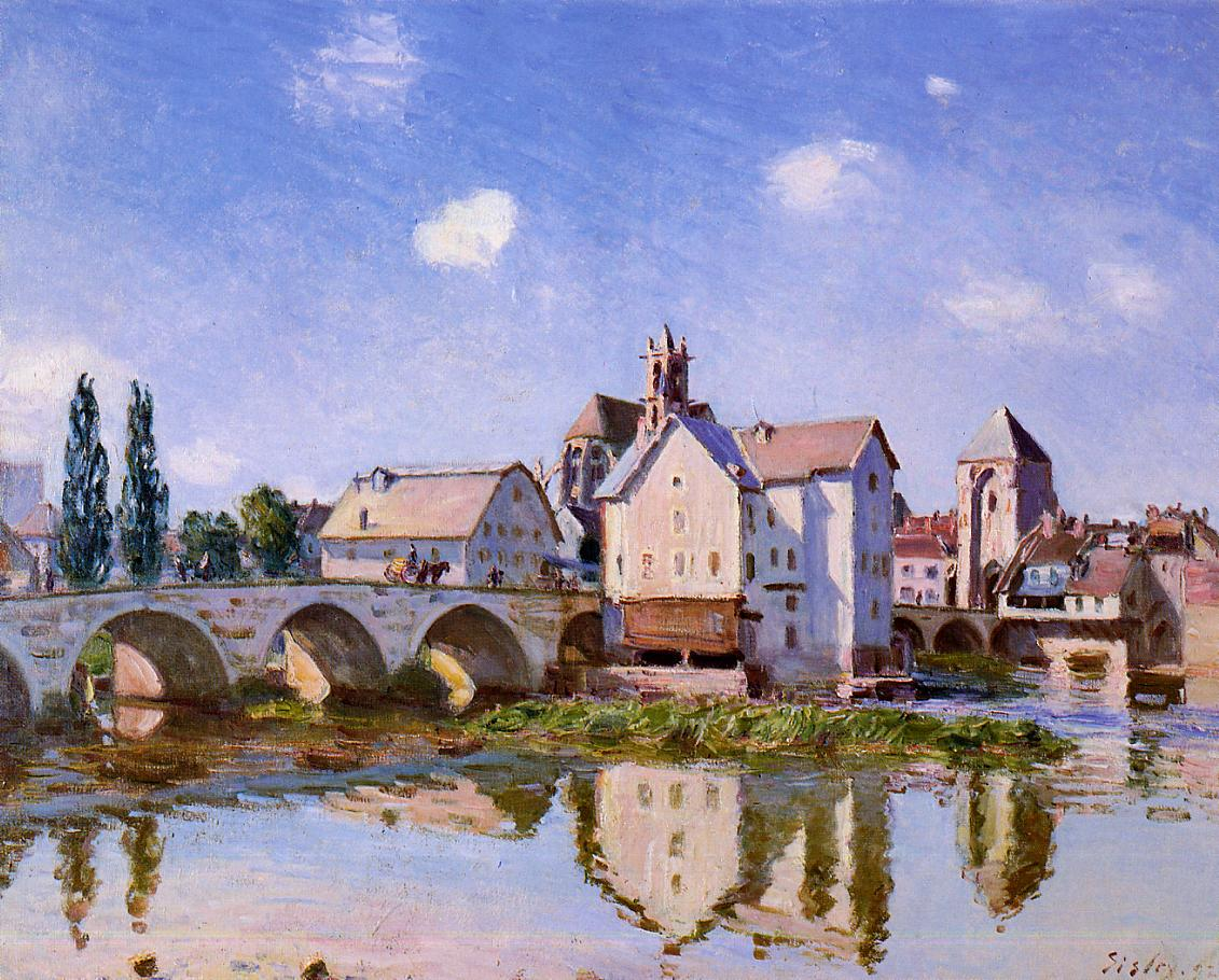 The Moret Bridge in the Sunlight  1892 | Alfred Sisley | Oil Painting