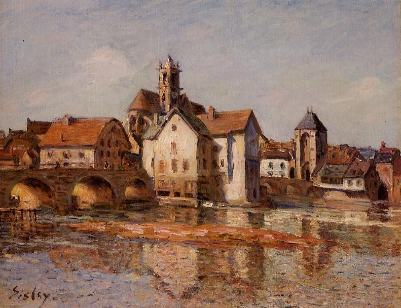 The Moret Bridge  1892 | Alfred Sisley | Oil Painting