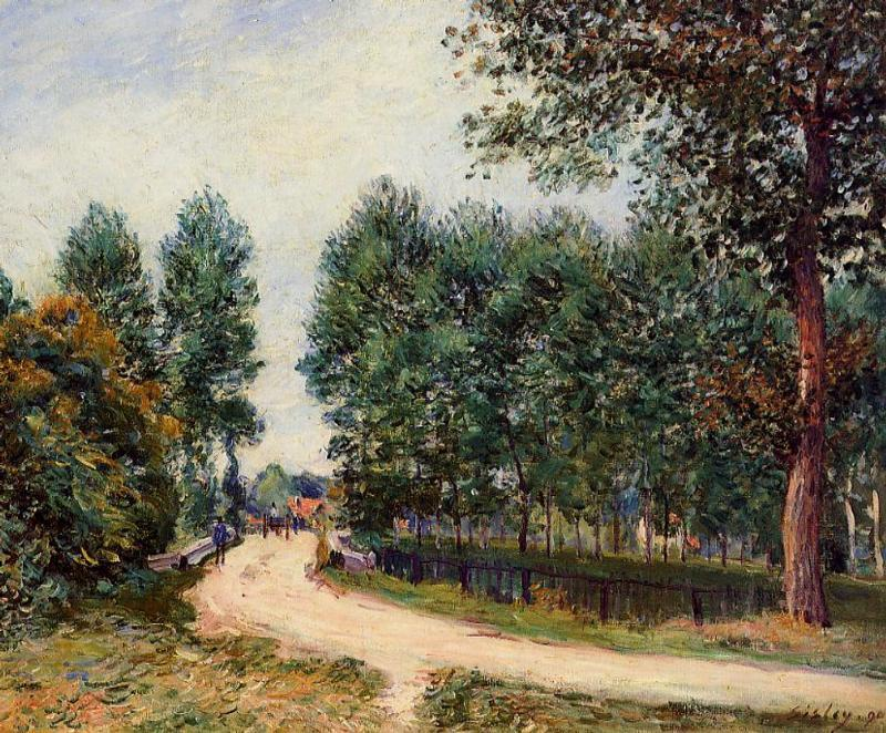 The Path from Saint-Mammes Morning  1890 | Alfred Sisley | Oil Painting