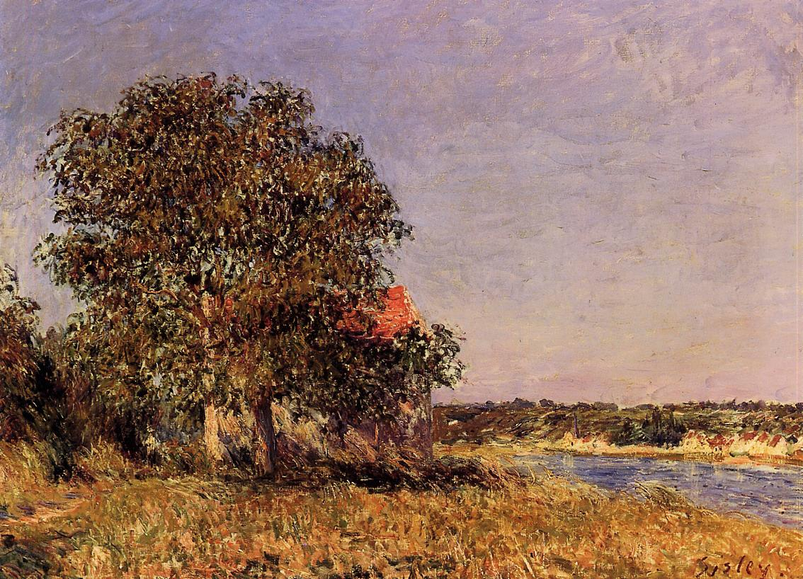 The Plain of Thomery and the Village of Champagne  1882 | Alfred Sisley | Oil Painting
