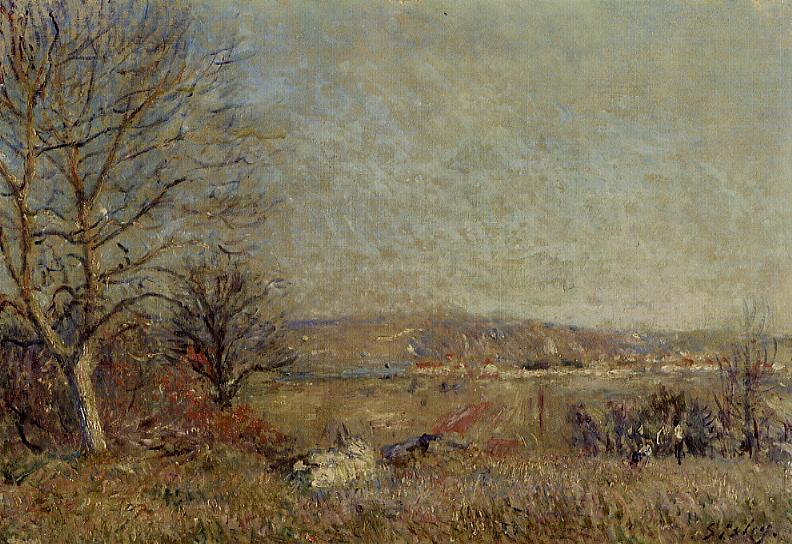 The Plain of Veneux View of Sablons  1884 | Alfred Sisley | Oil Painting