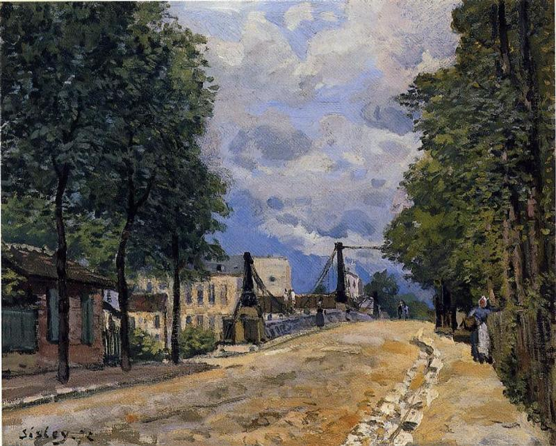 The Road from Gennevilliers  1872 | Alfred Sisley | Oil Painting