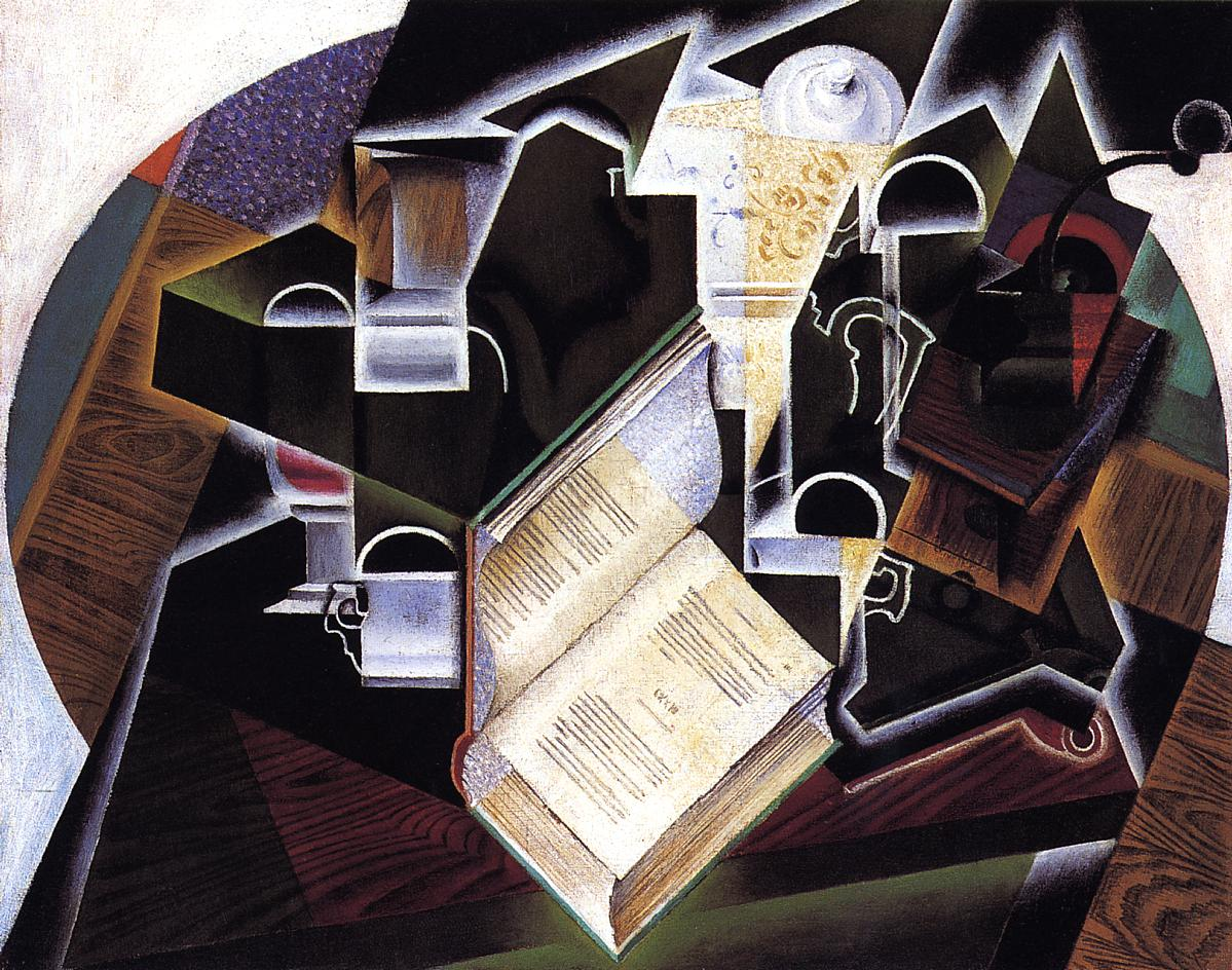 Book Pipe and Glasses 1915 | Juan Gris | Oil Painting
