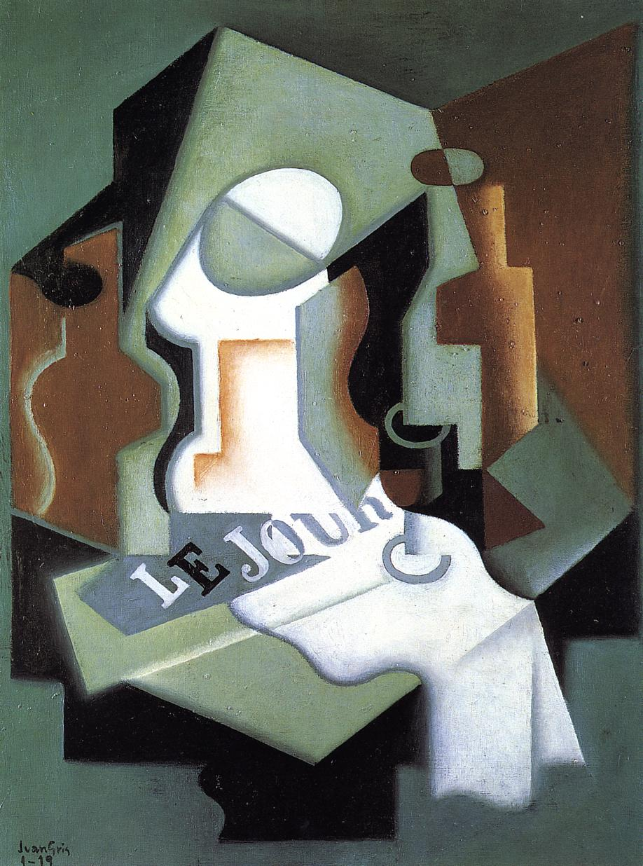 Bottle and Fruit Dish 1919 | Juan Gris | Oil Painting