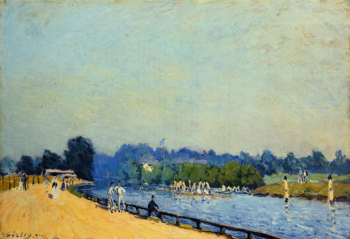 The Road from Hampton Court1  1874 | Alfred Sisley | Oil Painting