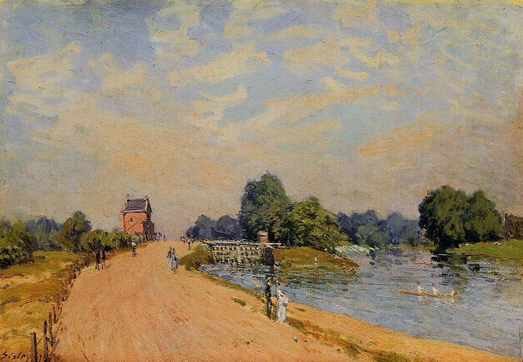 The Road from Hampton Court  1874 | Alfred Sisley | Oil Painting